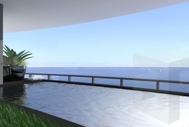 Relax in a Myrtha pool with a spectacular view.